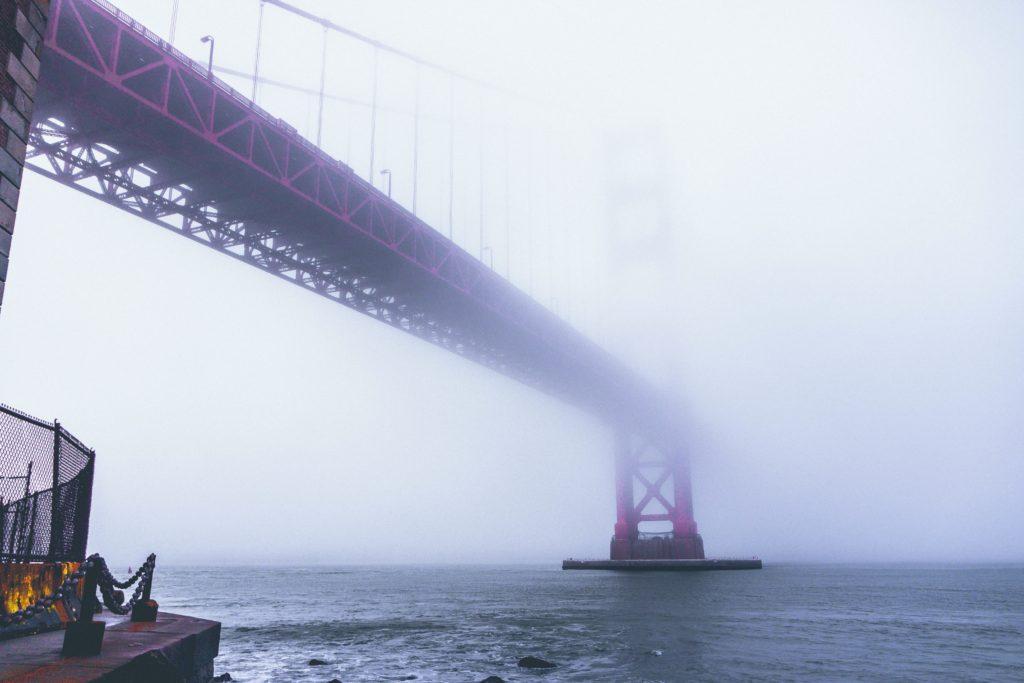 Das Wetter in San Francisco: neblig